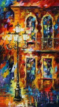 Old Light by Leonid Afremov by Leonidafremov