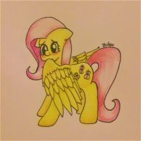 Fluttershy is just being adorable. by RedCurruption