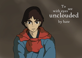 Ashitaka - See With Eyes Unclouded By Hate by Juggernaut-Art