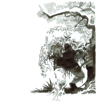 Inktober. Swamp Thing by nelsondaniel