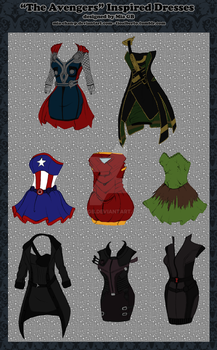 The Avengers Inspired Dresses by MiaGB