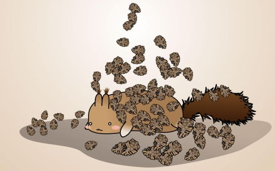 Squirrels day dream by Tiialle