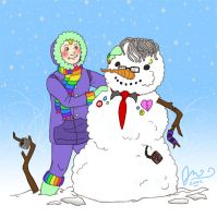 RainbowBoy and the Emo Snowman by Voodoofish