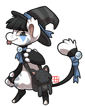 #16 Bagbean - Black cat - AUCTION CLOSED by griffsnuff