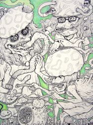Parasitic Lineart by fig13