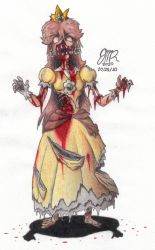 Zombie Daisy O.o colored by JMR-Mobius-1