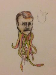 ron swanson with tenticles by leech-boy