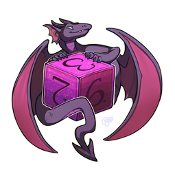 Dungeons and Dragons - Sneaky Dice Dragon (d6!) by oddsocket