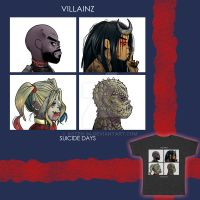 Villainz - Suicide Days T-shirt Design by Asten-94