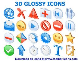 3D Glossy Icons by Ikonod