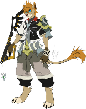 Birth By Sleep Lion Ventus by GunZcon