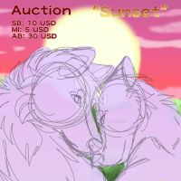 Sunset Auction (sold) by Gerundive