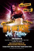 Dyverse Ink Tattoos Flyer 2 by Numbaz