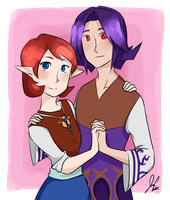 Kafei and Anju! by JCgurl201