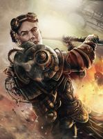 Steampunk Warrior by fredeep