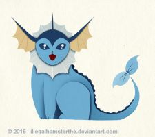 Vaporeon by IllegalHamsterThe