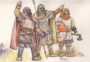 Jeering Saxons by deWitteillustration