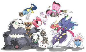 Groupe of pokemons