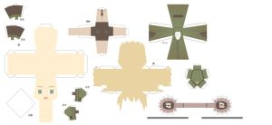 Hetalia Papercraft-Fem Germany by Dj-Mewmew