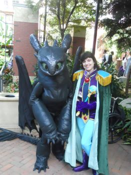 Sylphiel and Toothless by LadySaissis