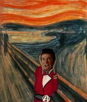 The Scream - Captain Kirk by rwlpeter