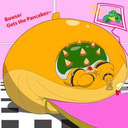Bowser Gets The Pancakes by FangWolf23