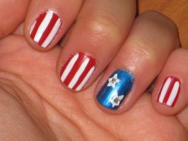 Independence Day 2011 Nails by yellow-tulips