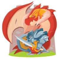 Dragon Knight by AbyssWatchers