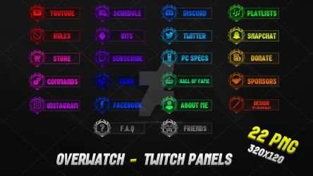 Overwatch - Twitch Panels (2018) by lol0verlay