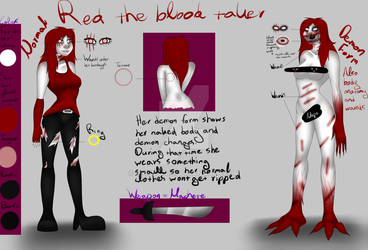 Red the blood taker Ref by Knife-Girl