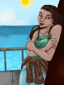 Kayo Kyrano relaxing in the sun. by greentigergirl