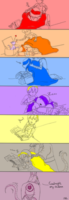 Sibling slumber to father by joselyn565