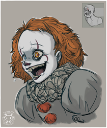 Expression Challenge - Mad Laugh Pennywise by Twime777