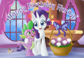 Happy BDay Rarity! CM for dcencia by UniSoLeiL
