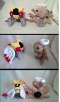 Ninjask and shedinja plush! by LRK-Creations