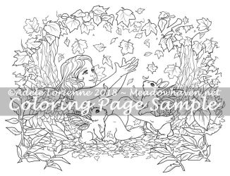 MeadowHaven Coloring Page: Autumn by Saimain