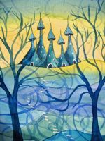 castle of dreams by dragonflywatercolors