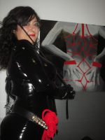 Myself in rubber with bondage poster by ElenaDarkBerry