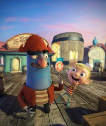 Flapjack and Captain K'nuckles by jeanmarcel3d