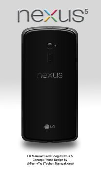 LG Nexus 5 Rear View Concept Design by teerox