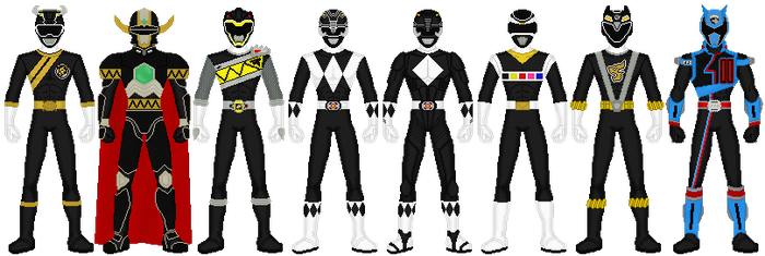Power Rangers - Mighty Black by exguardian