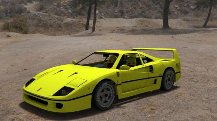 Ferrari F40 Yellow by TheRedCrown