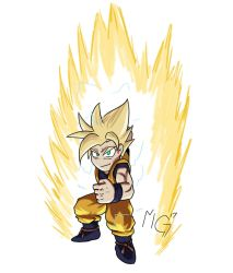 Playing with brushes and Super Sayian 2 Goku by Gx3RComics