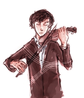 The Violinist by coffeeatthecafe
