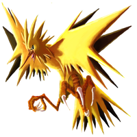 Zapdos :Collab: by DancesWithFoxes