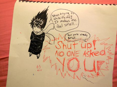 Silly Hiei by peas12344