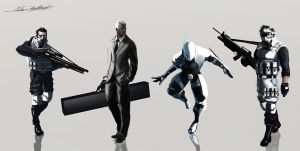 Security Character Concepts by oskart87