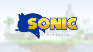 Sonic The Hedgehog (Modern Logo) by ProjectHyperBlue