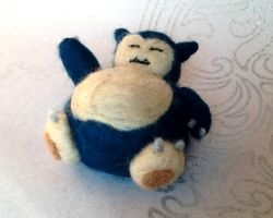 Needle Felted Snorlax!