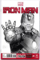 Iron Man blank sketch cover by kris-knave